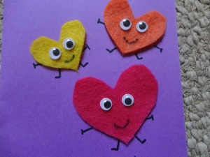homemade heart card