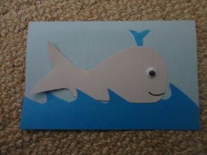 whale thank you card craft
