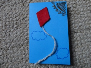 kite card craft