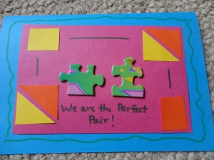 homemade puzzle card craft
