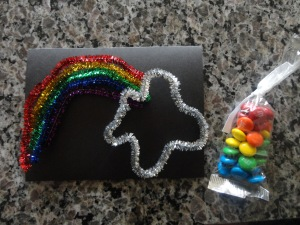 rainbow card craft