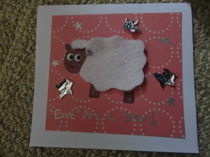 ewe are a star card craft