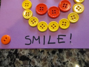 smile card craft for kids