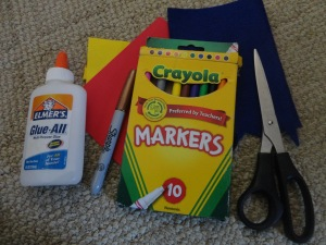 super hero card craft materials