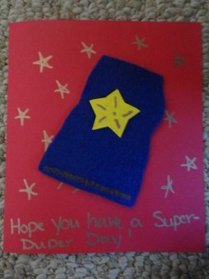 super hero greeting card