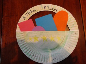 a tisket a tasket nursery rhyme craft
