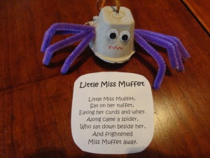 little miss muffet craft