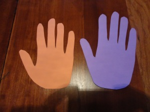 handprint mary mary quite contrary craft