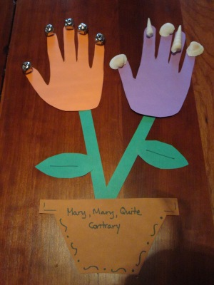 mary mary quite contrary nursery rhyme craft