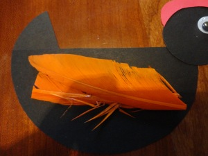hen craft with feather