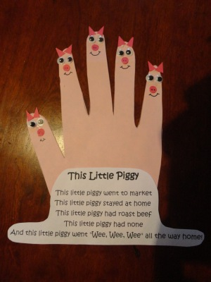 this little piggy craft for kids
