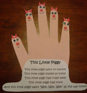 this little piggy nursery rhyme craft