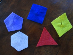 felt shapes craft