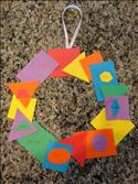 shapes wreath craft