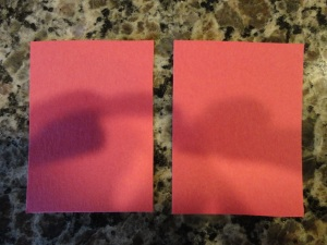 pink cardstock shapes