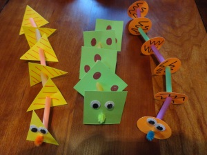 shape snakes craft