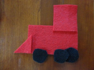 felt train engine