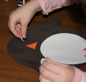 kids penguin craft