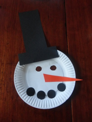 snowman mask craft
