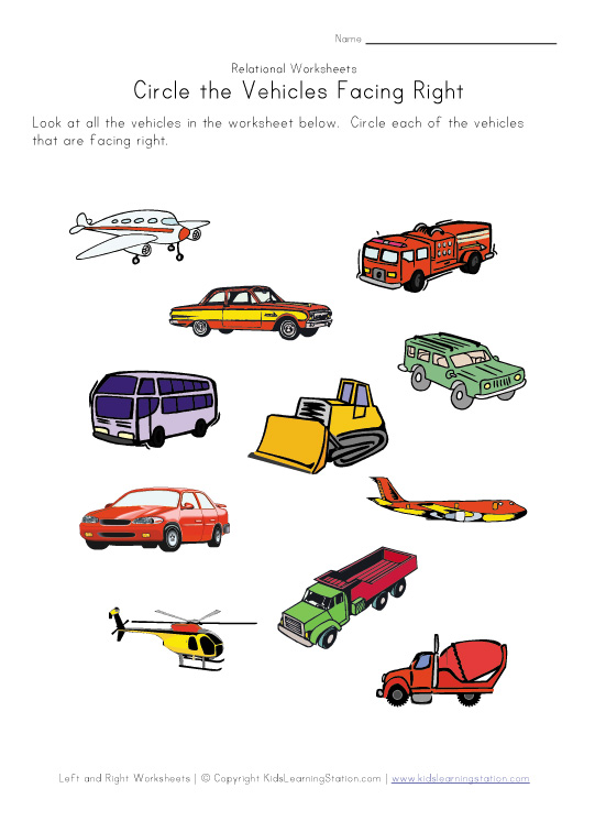kindergarten vehicles worksheets transportation coloring car Car ...