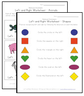 left right worksheets