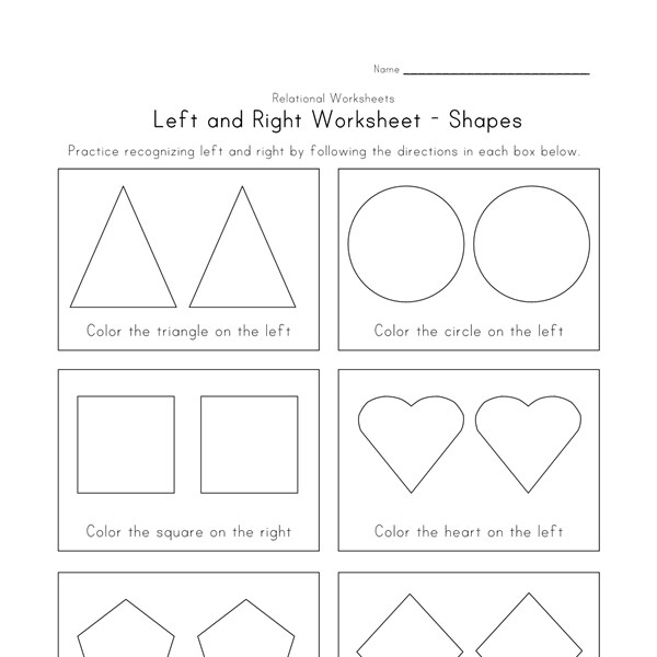left and right worksheet shapes theme all kids network. Black Bedroom Furniture Sets. Home Design Ideas
