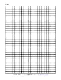 quarter inch graph paper