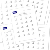 addition worksheets with carrying