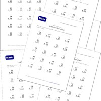 addition worksheets without carrying