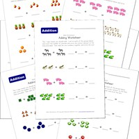 math worksheet : addition worksheets for kids  kids learning station : Addition Picture Worksheets