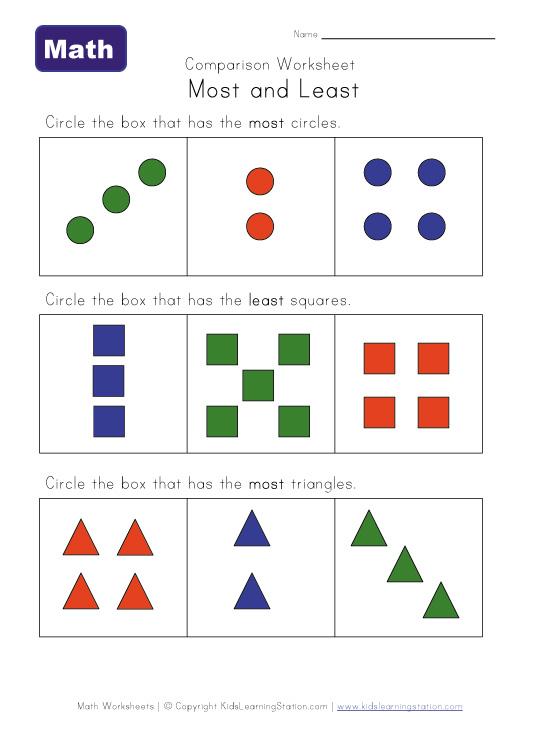 Compare Numbers Worksheet Comparison worksheet