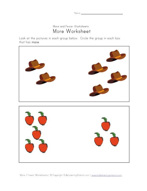 more worksheet
