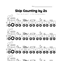 skip counting by 2s worksheet