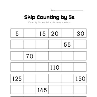 skip counting by fives worksheet kids learning station. Black Bedroom Furniture Sets. Home Design Ideas