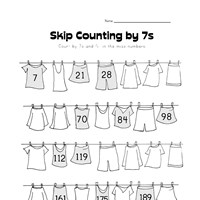 skip counting by sevens worksheet