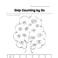 skip counting by eights worksheet