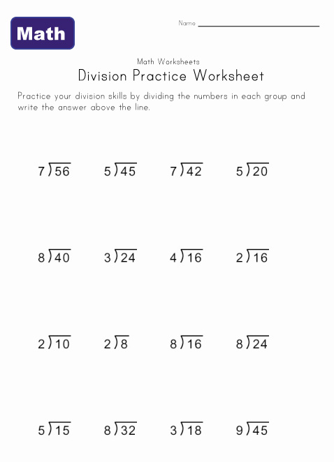 ... division problems for beginners to your kids math lesson plan