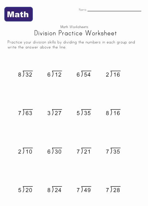 Math Worksheets Grade 4 Division Along With Along With | Free Download ...