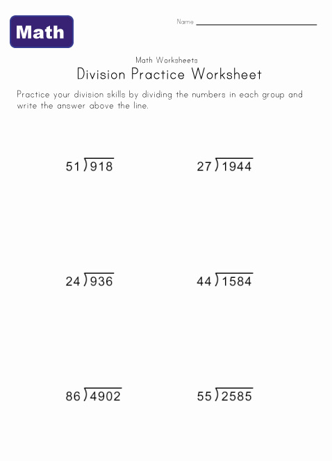 Math Long Division Lessons Tes Teach – Long Division Worksheet Template