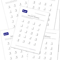 math worksheet : subtraction worksheet  animals theme  kids learning station : Easy Subtraction Worksheet