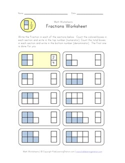 math worksheet : beginner fractions worksheet  kids learning station : Beginner Fraction Worksheets