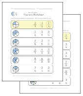 circle the fractions worksheets
