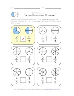 math worksheet : compare fractions worksheet  kids learning station : Comparing And Ordering Fractions And Decimals Worksheets