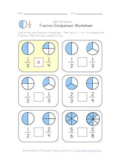 math worksheet : fraction comparison worksheet  kids learning station : Worksheet Comparing Fractions