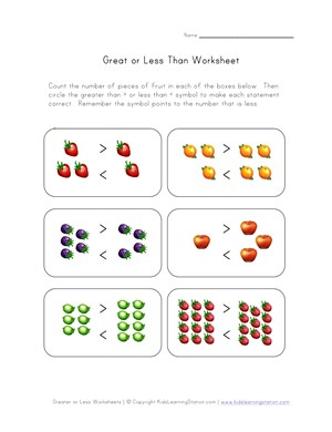 Number Names Worksheets greater than and less than worksheets : Greater Than Less Worksheet Year 2 - Intrepidpath