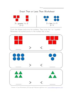 math worksheet : more than less than worksheets for kindergarten  more than less  : Kindergarten Greater Than Less Than Worksheets