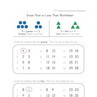 less and greater than worksheet
