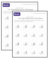 two digit multiplication worksheets
