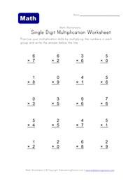 math worksheet : multiplication worksheets 100 problems timed tests  : Printable Multiplication Facts Worksheets