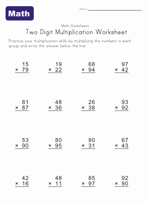 Multiplication Problems | New Calendar Template Site